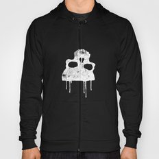 GRUNGE BACKGROUND WITH SKULL Hoody