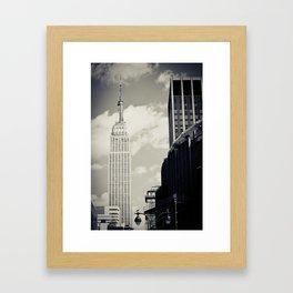 New York: Empire State Building in B&W Framed Art Print
