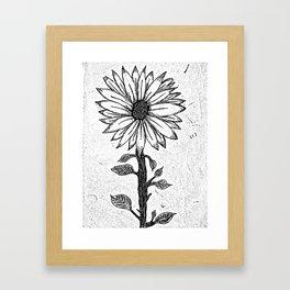 C'est la fleur. Framed Art Print