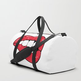 Red Lips Pop art Duffle Bag