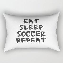Eat, Sleep, Soccer, Repeat Rectangular Pillow