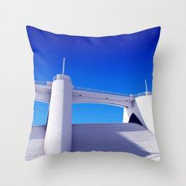Sepulveda Dam on blue Throw Pillow