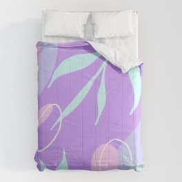 Purple Abstract Shapes Comforters