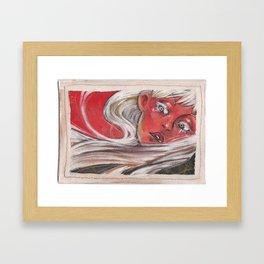 White Haired Lady Framed Art Print
