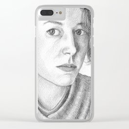 Portrait of a Woman Clear iPhone Case