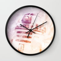 r2d2 Wall Clocks featuring R2D2 by eARTh
