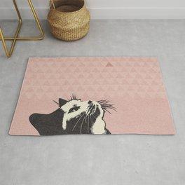Cat on Pink - Lo Lah Studio Rug