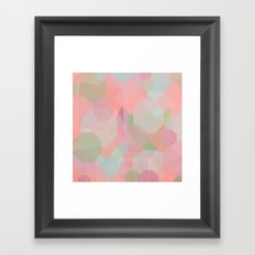 Hexagon, Square and Diamond Patterned Abstract Design Framed Art Print