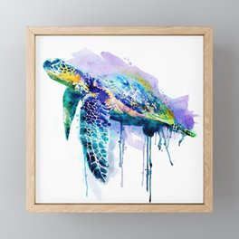 Watercolor Sea Turtle Framed Mini Art Print