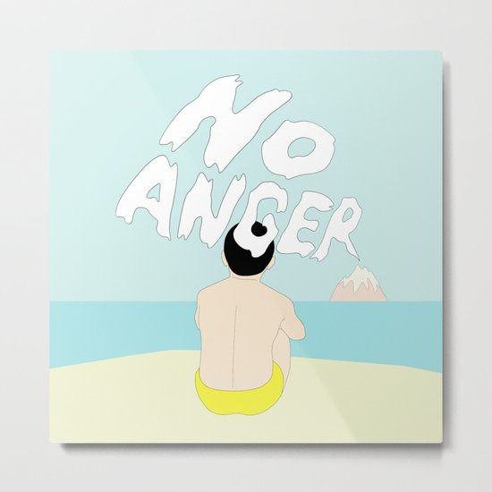 NO ANGER Metal Print