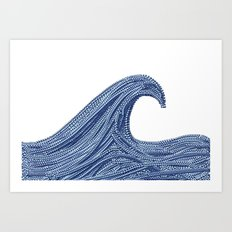 Emoji wave Art Print