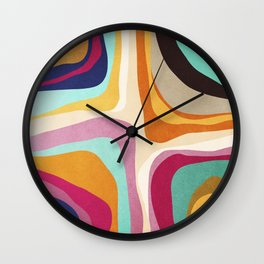 Psychedelic pattern 01 Wall Clock