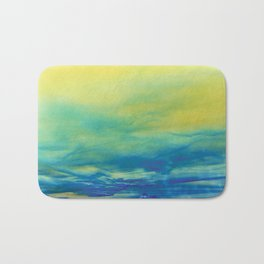 YELLOW & BLUE TOUCHING #1 #abstract #art #society6 Bath Mat