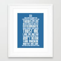 tardis Framed Art Prints featuring Tardis by Tombst0ne