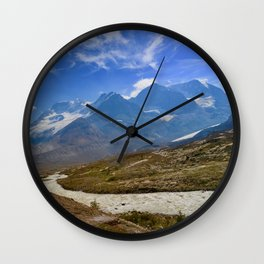 columbia icefield in summer, 2017 Wall Clock