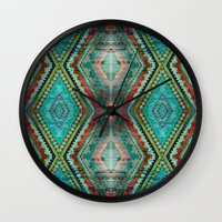 aztec Wall Clocks featuring AZTEC by ED design for fun