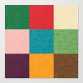 Cube pattern retro colors Canvas Print