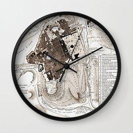 Plan of Jerusalem Wall Clock