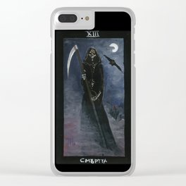 Tarot card Death XIII Clear iPhone Case