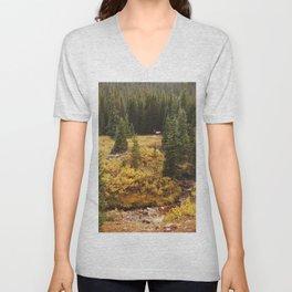 Rocky Mountain Creek Elk Unisex V-Neck