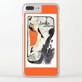Jane Avril French can-can Jardin de Paris Clear iPhone Case