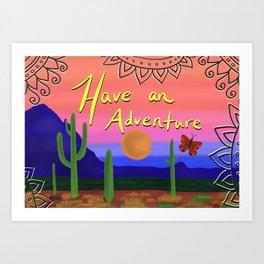 Adventuring Art Print