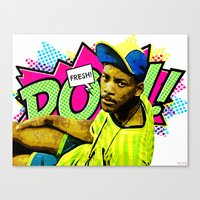 fresh prince Canvas Prints featuring Fresh Prince of Bel-Air by Art By MOP$