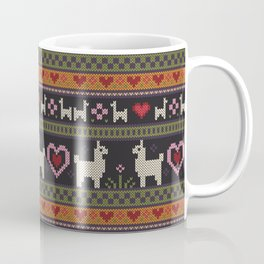 Llama Love Knit Coffee Mug
