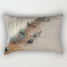 Chairs in the Jardin des Tuileries, Paris Rectangular Pillow
