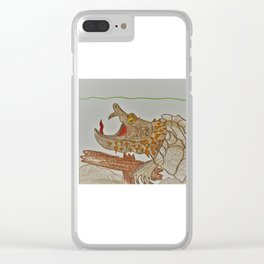 Alligator Snapping Turtle Clear iPhone Case