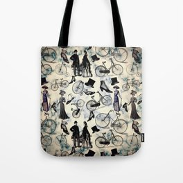 Victorian Bicycles and Fashion Tote Bag