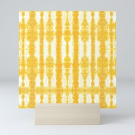 Yellow Tiki Shibori Mini Art Print