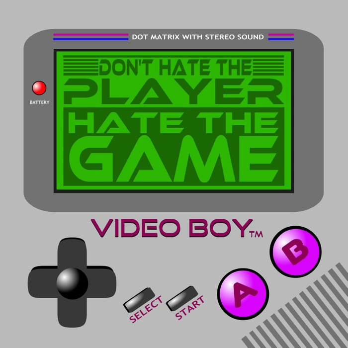 Don't Hate The Player, Hate The Game!     Video Game Duvet Cover