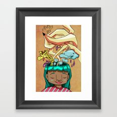 Overflowing thoughts  Framed Art Print