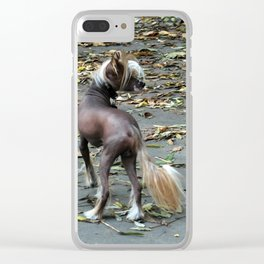 Chinese Crested Dog Clear iPhone Case