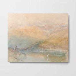 "J.M.W. Turner ""On the Mosell, Near Traben Trarbach"" Metal Print"