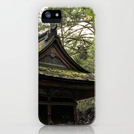 Shrine in Okunoin cemetery of Koyasan, Japan 001 iPhone Case