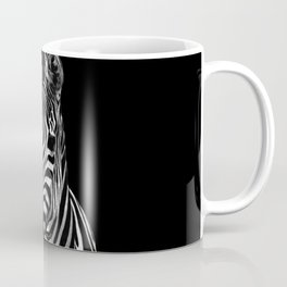 Zebra Black Coffee Mug