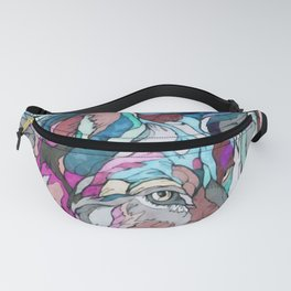 Colorful Wolf Fanny Pack