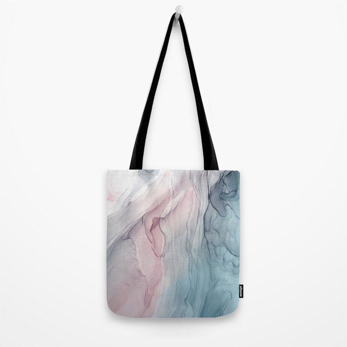 Calming Pastel Flow- Blush, grey and blue Tote Bag