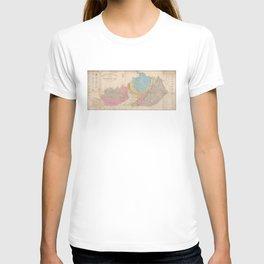 Vintage Geological Map of Kentucky (1877) T-shirt