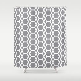 Tessellation Line Pattern 13 Abstract Hexagons Shower Curtain