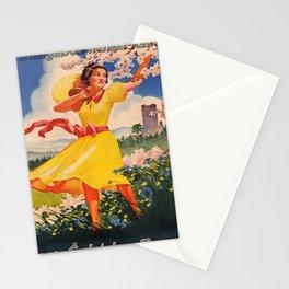 vintage poster Fruehling in Boehmen und Maehren voyage poster Stationery Cards