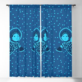 Angels on the deep blue Blackout Curtain