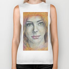 Frosted Windows of Color Biker Tank