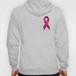 Satin pink ribbon Hoody