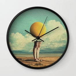 Lone Poker-Face Wall Clock