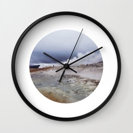 Man on the moon, Iceland Wall Clock