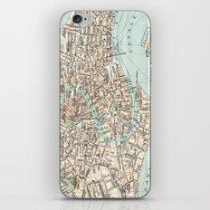 Vintage Venice Map iPhone & iPod Skin