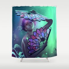 The art of the leaf-stripping Shower Curtain